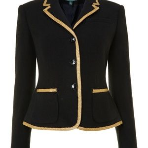 Lauren by Ralph Lauren Black Blazer